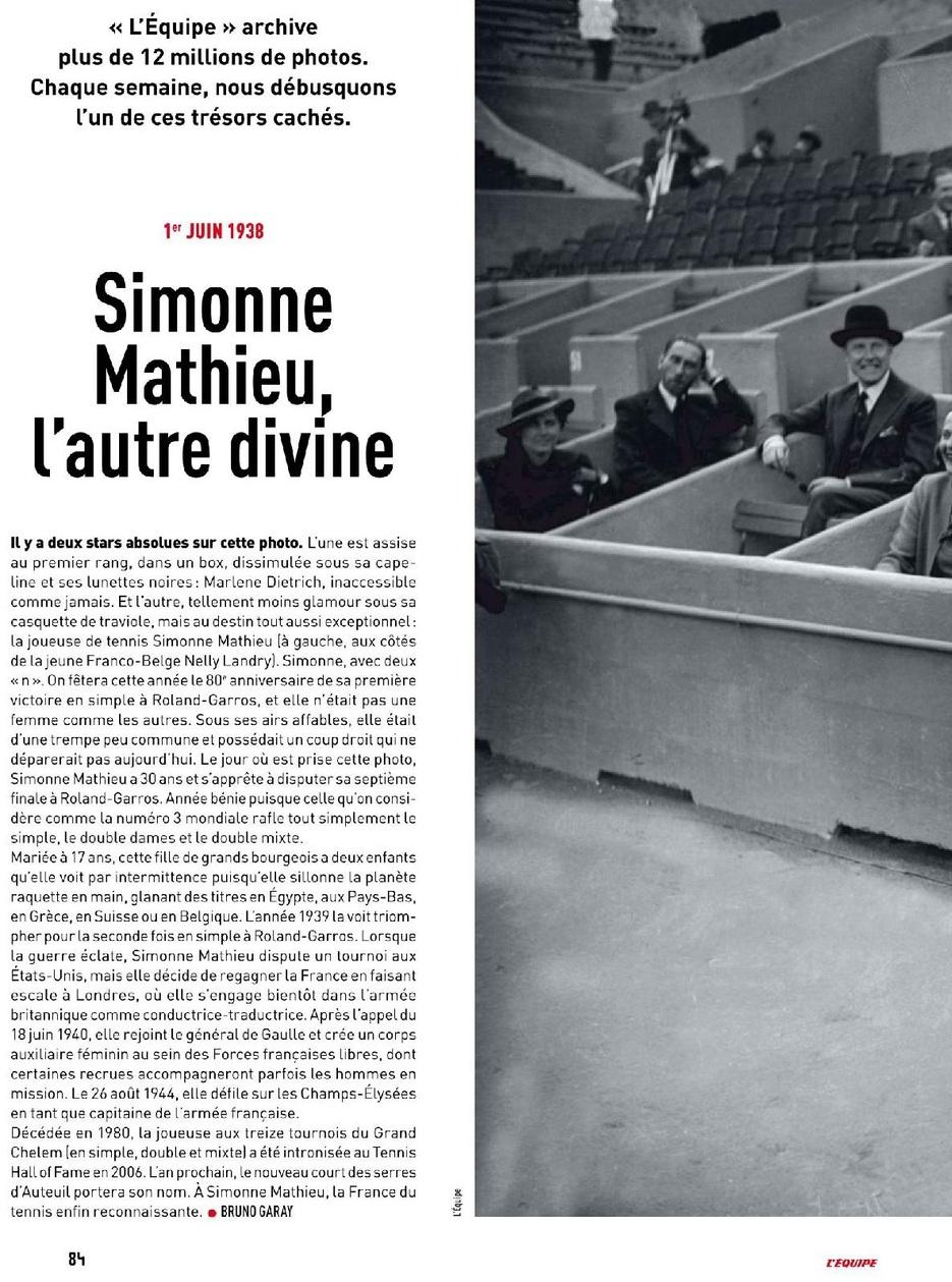 Simonne Mathieu, l'autre divine