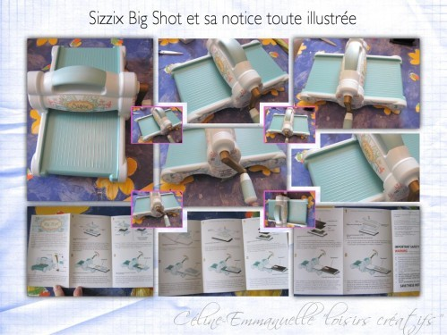 Sizzix Big Shot et notice