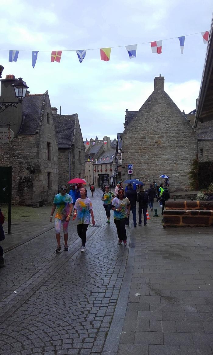 courrir sous la pluie