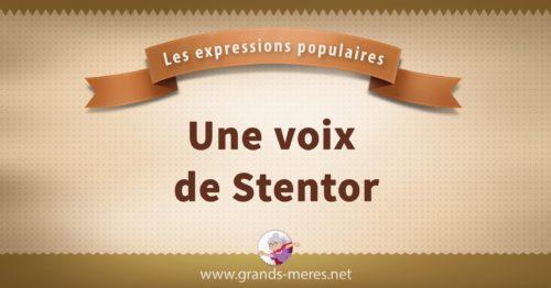 une voix de Stentor