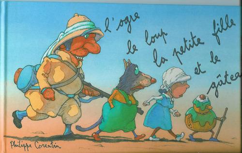 """Tapis de Lecture """"L'ogre, le loup, la petite fille et le gâteau"""", de Lapinou"""