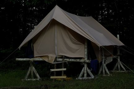 Tente des chefs, camp bleu 2012
