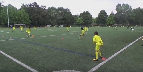 Vidéos école de foot Fc Nantes : Prise d'info et vivacité
