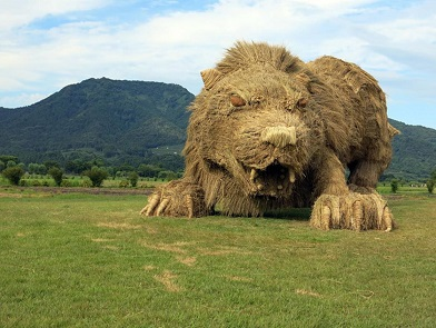 Japon : le festival de la paille de riz ...