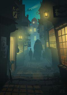"""Résultat de recherche d'images pour """"allée des embrumes harry potter"""""""
