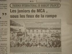 MCA  juniors à Bobiny1999-2000