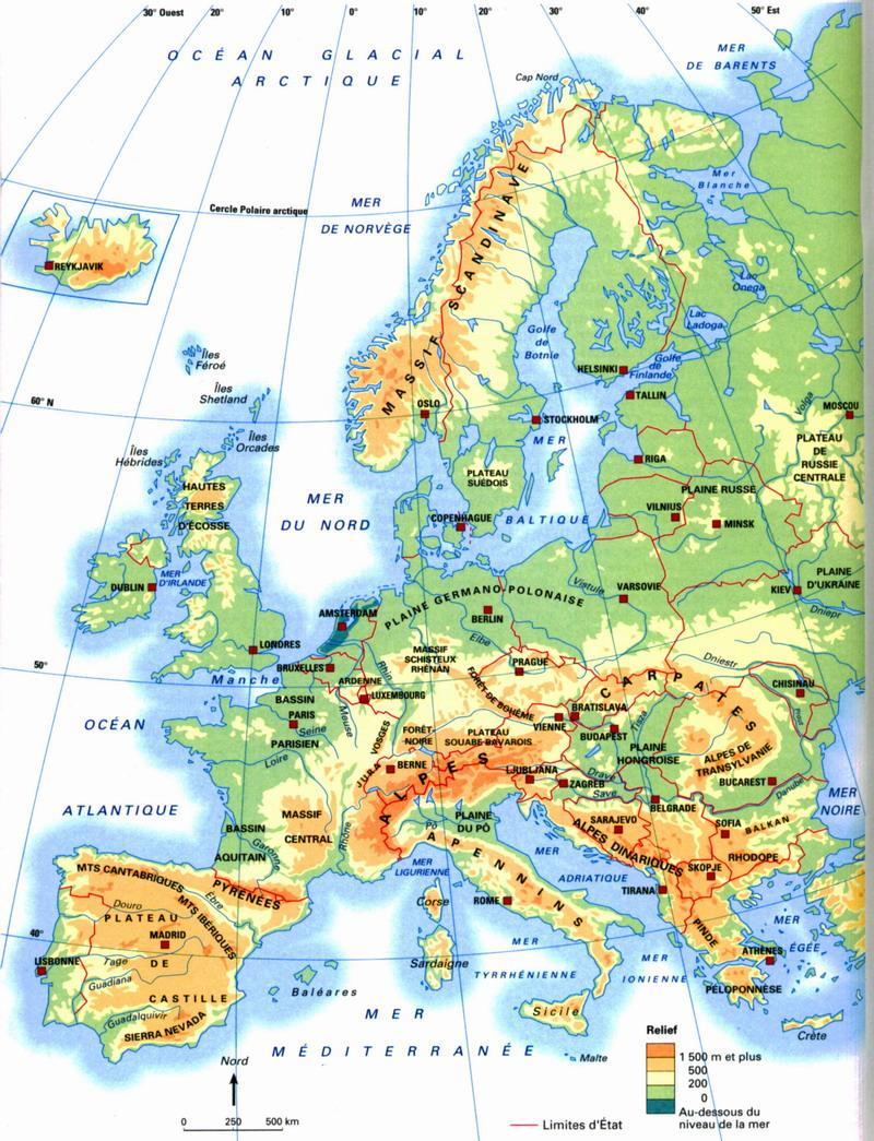 carte europe cycle 3