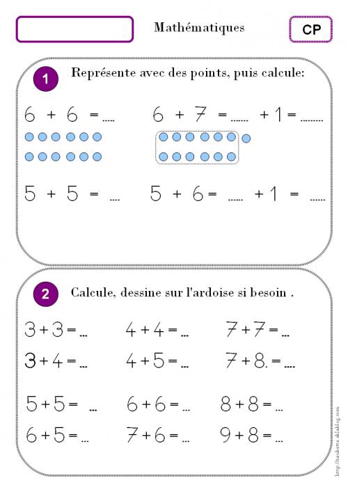 Calculer avec les doubles. CP