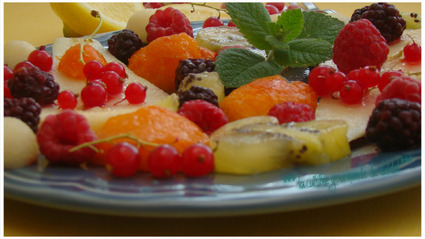 "SALADE DE FRUITS D'ÉTÉ,Façon ""Weight Watchers"""