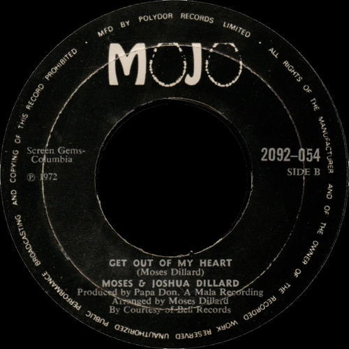 1972 : Single SP Mojo Records 2092-054 [ UK ]