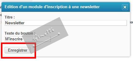 -Créer une Newsletter