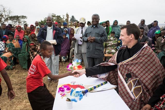 Frederik en Afrique