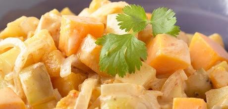 Salade de pommes de terre aux fruits