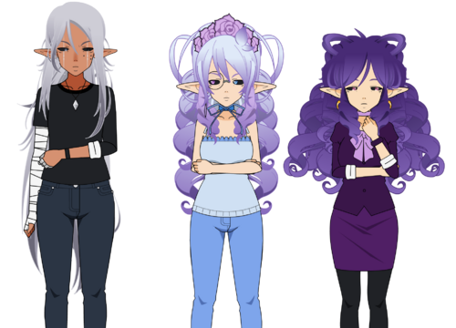 Sybille, Auxane et Leone