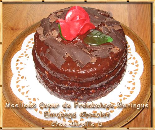 Moelleux Coeur de Framboises Meringué Enrobage Chocolat