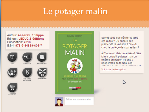 Lecture : le potager malin