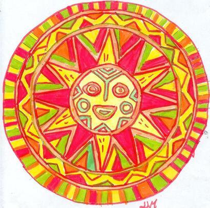 mandala soleil mexicain