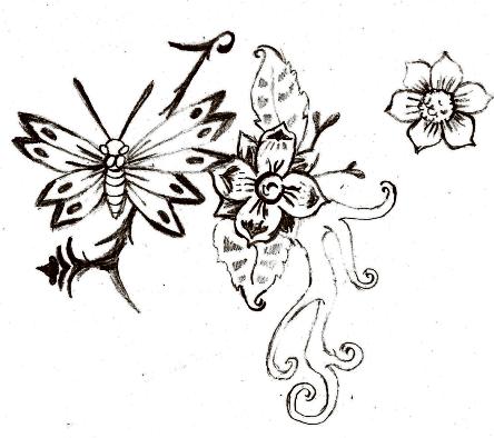 papillon/fleur