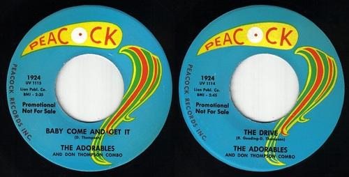 THE ADORABLES - PEACOCK RECORDS