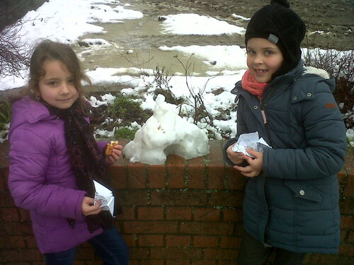 La neige à l'école et la réception de 2 nouveaux jeux sur les alphas.