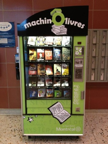 La machine distributrice de livres !