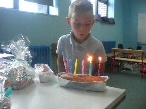 Les goûters d'anniversaire de Mathieu et Amaury
