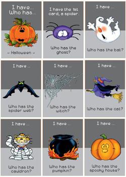 Le vocabulaire pour Halloween