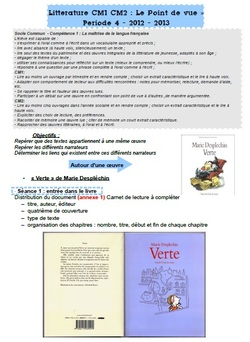 """Verte"" de Marie Desplechin"