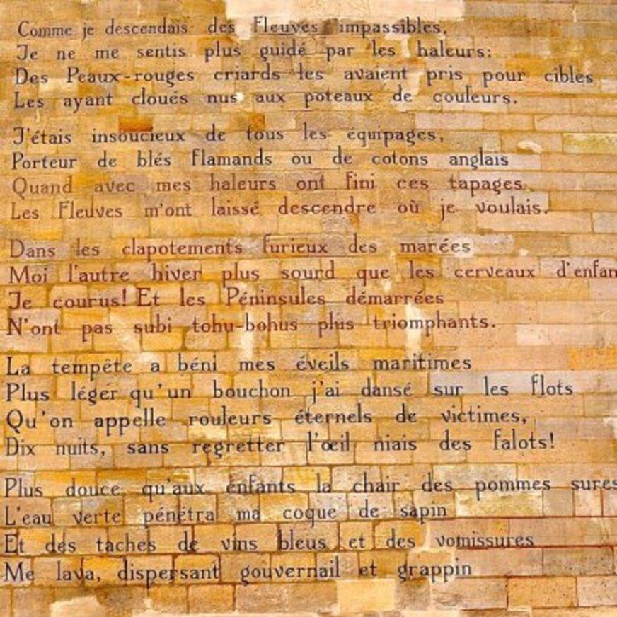 Rimbaud sur les murs