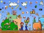 """Des personnages de jeux """"Mario"""" en perles à repasser"""