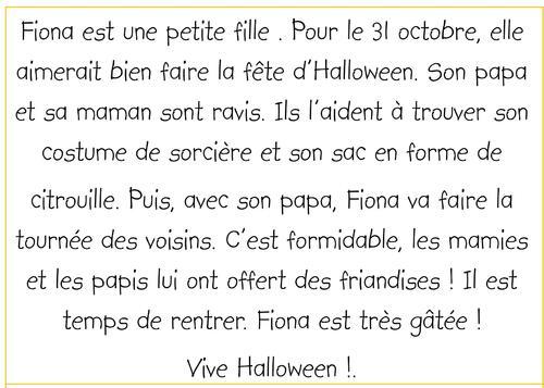 Fiona et la fête d'Halloween (suite)