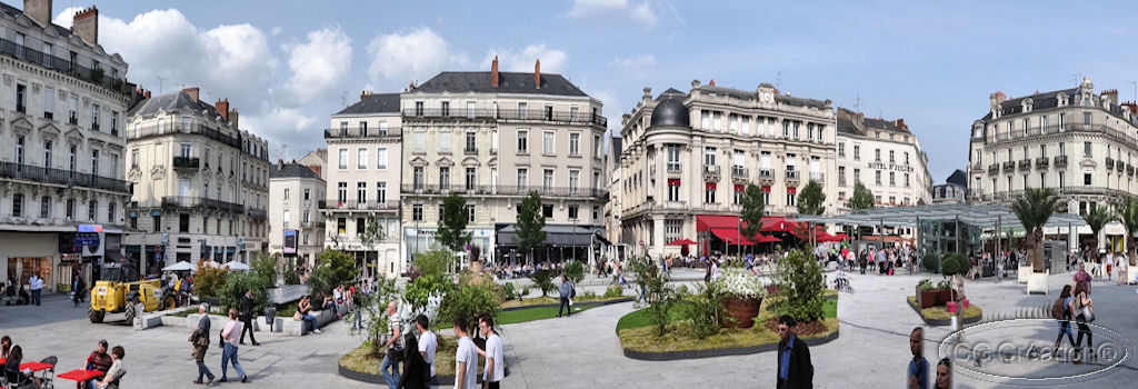 Angers : la place du Ralliement passe du minéral au végétal !