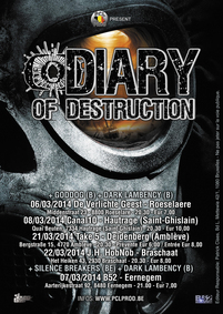 Foreign Legion, Diary of Destruction - En tournée dans le plat pays