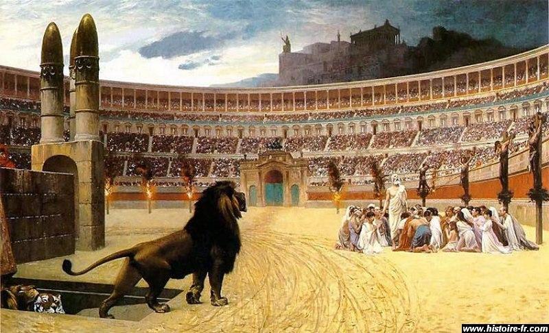 Souvenons nous de la persécution  des chrétiens par les romains !
