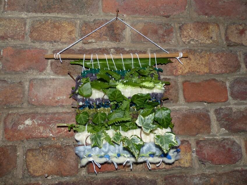 Tissage avec plantes SAUVAGES