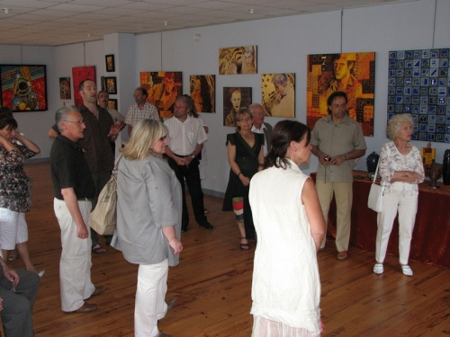 3 juillet 2010 : vernissage de l'exposition de Laurent CURAT