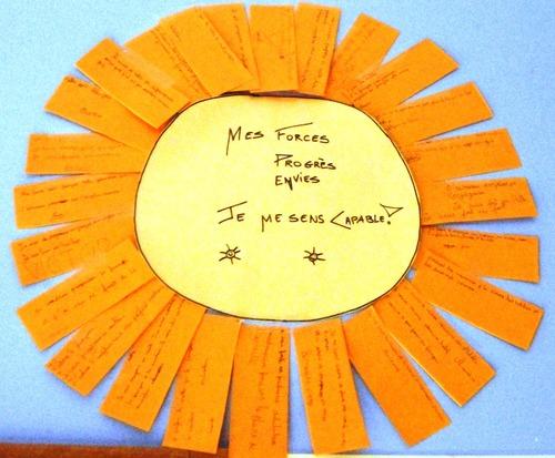 Règles de vie du premier jour - fleur, soleil et nuage