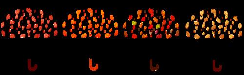 Barres séparatives parapluies feuilles