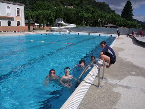 Les sorties à la piscine.
