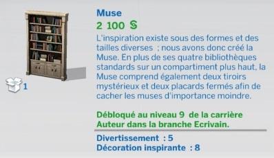 """Carrière """"Auteur"""" branche Écrivain niv9"""