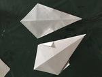 Des fantômes en papier facile à faire. DIY.