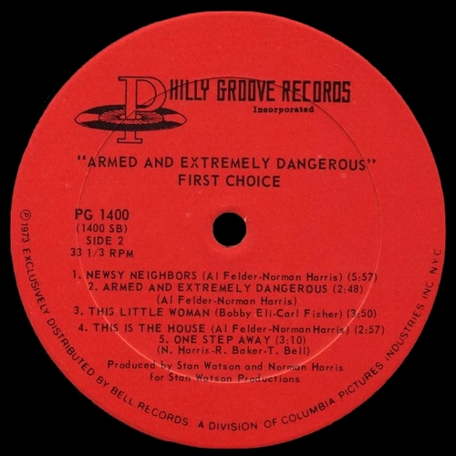 "First Choice : Album "" Armed And Extremely Dangerous "" Philly Groove Records PG 1400 [ US ]"