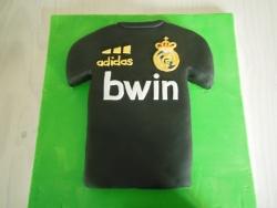 gâteaux d'anniversaire fait pour un jeune fan du Réal Madrid  ;-)