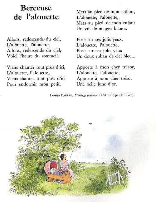 BERCEUSE DE L'ALOUETTE (Louisa Paulin)