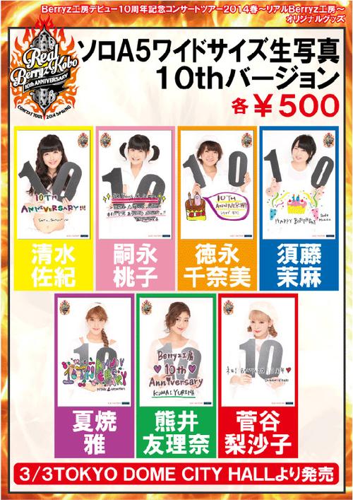 Goodies ~ Berryz Kobo Debut 10th Anniversary Concert Tour 2014 Haru ~Real Berryz Kobo~
