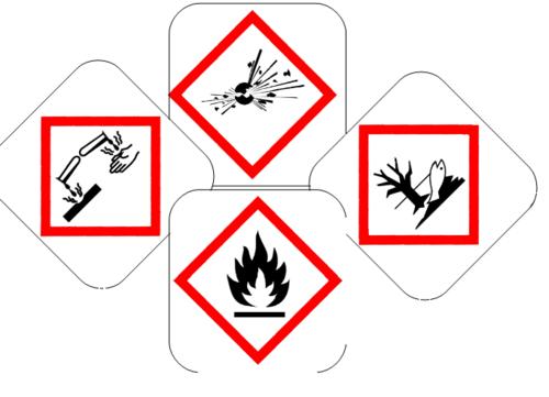 memory symboles produits dangereux