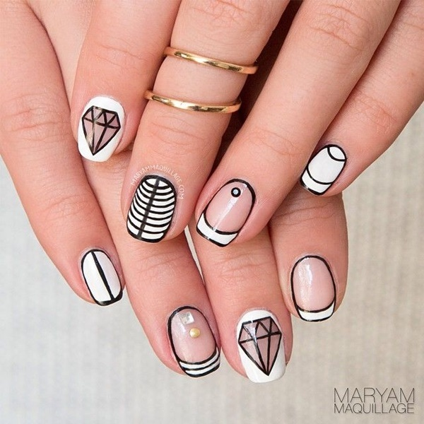 Simple Nail Art Designs for Short Nails5