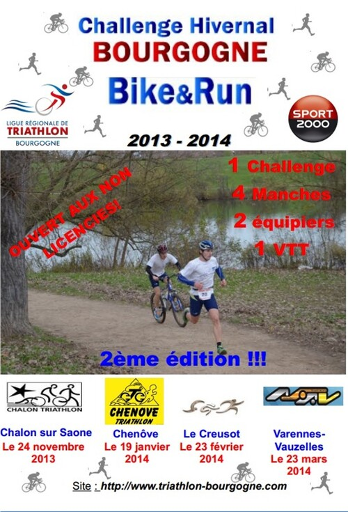 Challenge bike and run hivernal 2013/2014