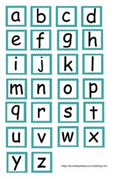 Petit alphabet à manipuler