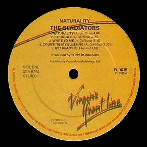 "The Gladiators : Album "" Naturality "" Virgin Records FL 1035 [ UK ]"